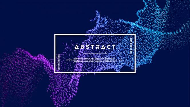Glänzender abstrakter Partikelflusshintergrund.