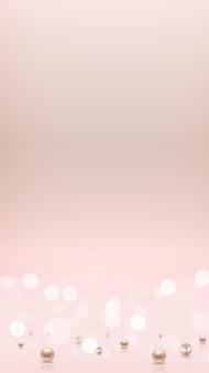 Glänzender abstrakter rechteckiger hintergrund mit realistischen perlen. vektor-illustration eps10