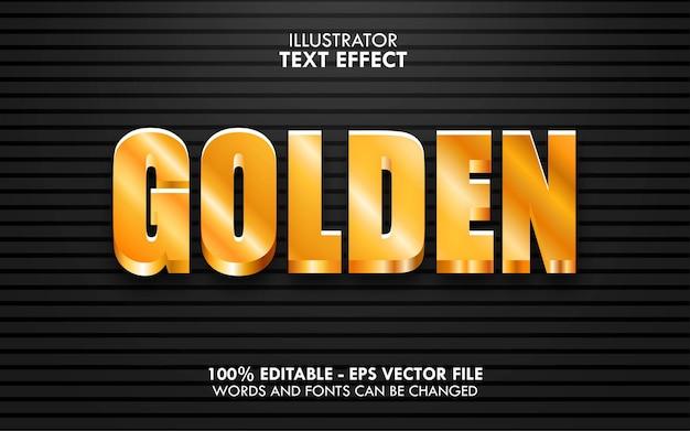 Glänzender bearbeitbarer texteffekt im goldstil