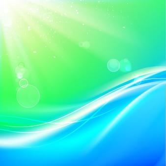 Glänzender blauer fluss
