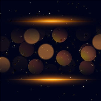 Glänzender bokeh funkelt goldener hintergrund