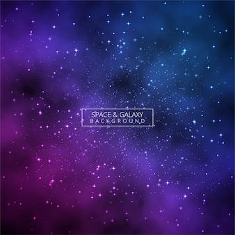 Glänzender bunter galaxie des universums glühender hintergrundvektor