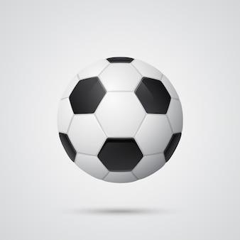 Glänzender dreidimensionaler fußball