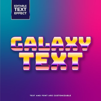 Glänzender galaxie-texteffekt