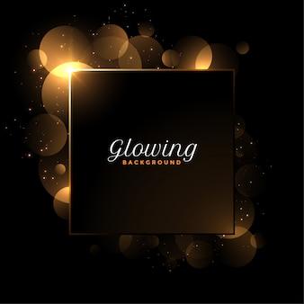 Glänzender glühender luxushintergrund mit textraum