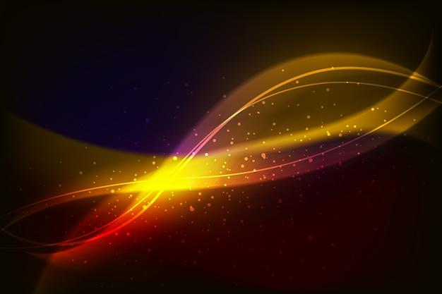Glänzender glühenwellenhintergrund
