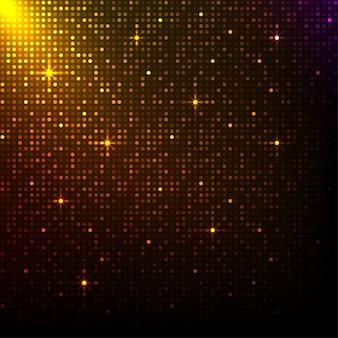 Glänzender goldener pixelhintergrund. musical oder disco lichter hintergrund.