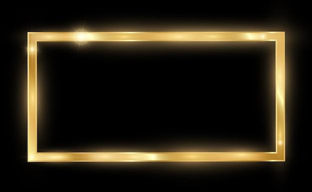 Glänzender goldrahmen