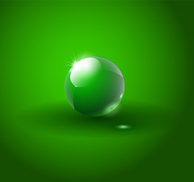 Glänzender grüner ball
