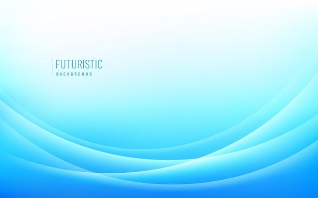 Glänzender hellblauer und weißer hintergrund mit wellenlinien