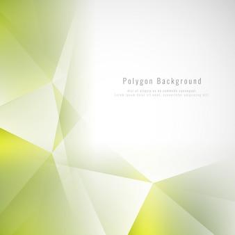 Glänzender hellgrüner polygonaler hintergrund