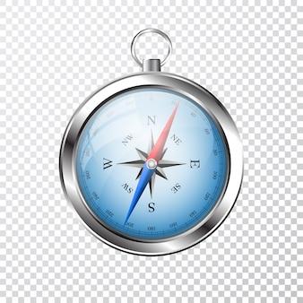 Glänzender kompass mit windrose