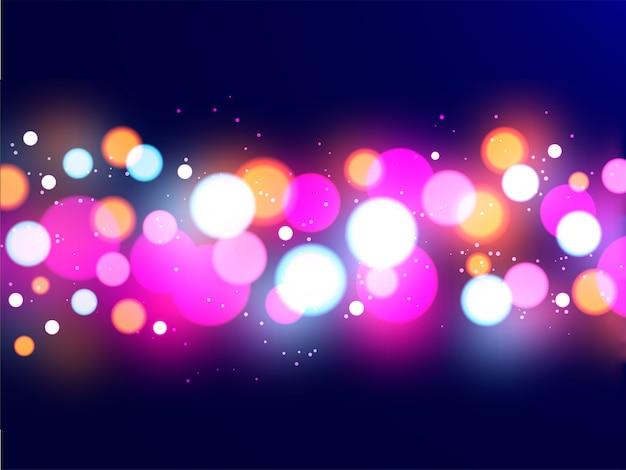 Glänzender mehrfarben-bokeh zusammenfassungshintergrund.