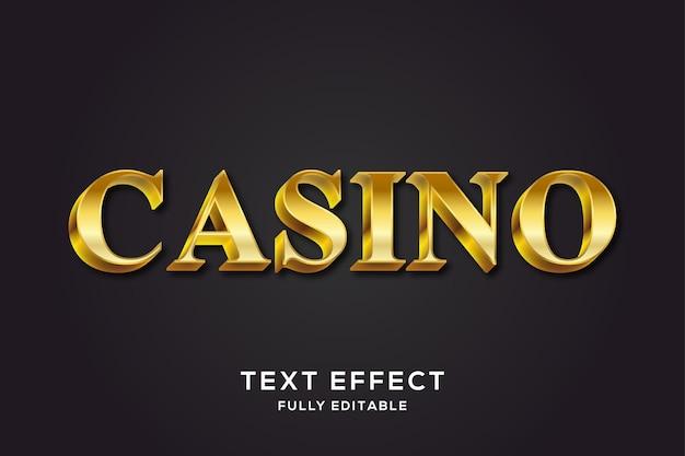 Glänzender metallischer goldener 3d text-effekt