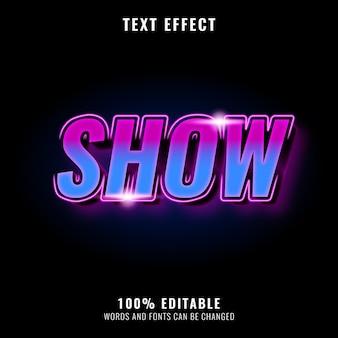 Glänzender neon-texteffekt