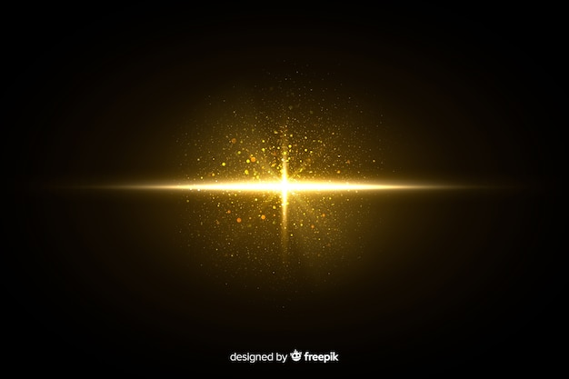 Glänzender partikeleffekt der explosion nachts