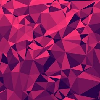 Glänzender polygonaler hintergrund in erdbeere margrita tont