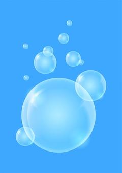 Glänzender qualitätsblasenflüssigkeitshintergrund