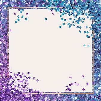 Glänzender rahmen lila farbverlauf hintergrund
