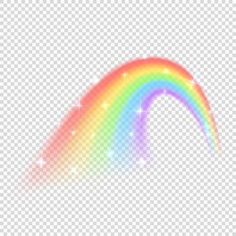 Glänzender regenbogenvektor lokalisiert auf transparentem hintergrund