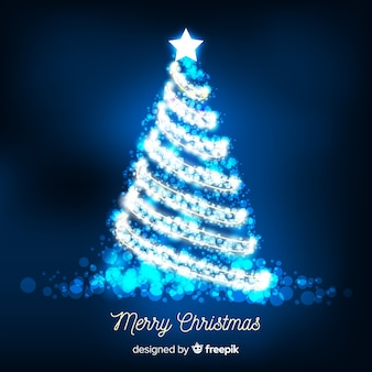 Glänzender silberner weihnachtsbaumhintergrund