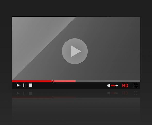 Glänzender video-player-rahmen