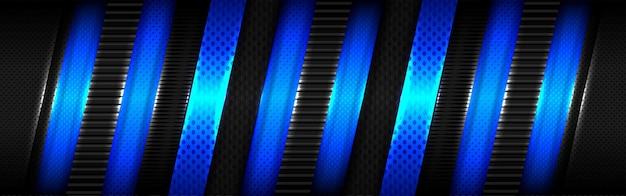 Glänzendes blaues lichtüberlappungsdesign