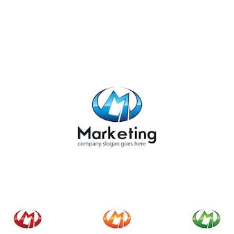 Glänzendes buchstabe m-logo