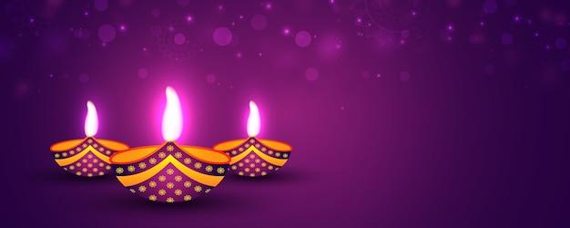 Glänzendes fröhliches diwali festival banner