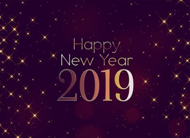 Glänzendes glückliches neues jahr 2019 funkelt hintergrund