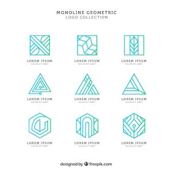 Glänzendes grünes monoline-logopack