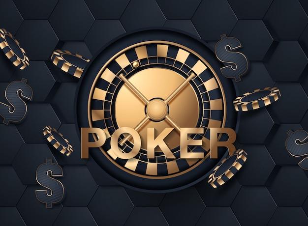 Glänzendes kasino-fahnen-plakat