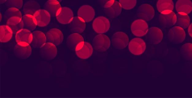 Glänzendes lila rotes bokeh-banner mit textraum