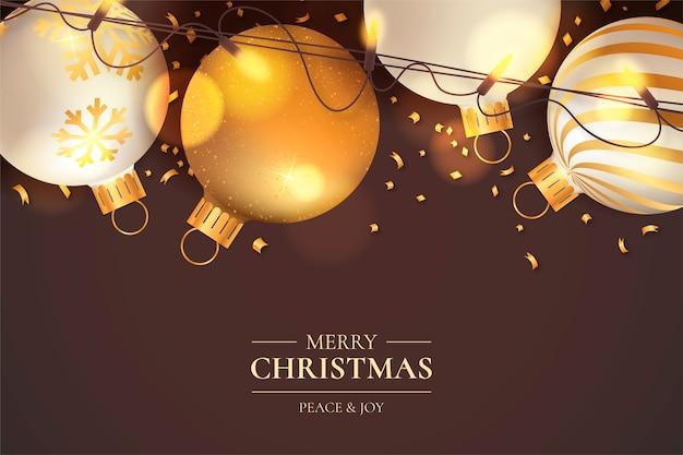 Glänzendes weihnachten mit eleganter dekoration