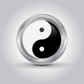 Glänzendes ying-yang-symbol