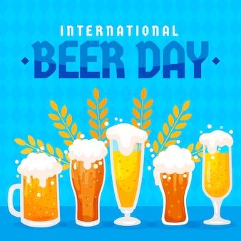 Gläser bier flaches design