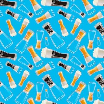 Gläser mit verschiedenen soda nahtlose muster