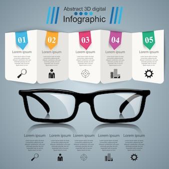 Gläser-symbol. abstrakte abbildung infographik.