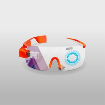 Gläser virtuell und mehr realität