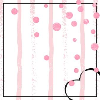 Glamour-textur. goldenes girly-textil. glitzernder flyer mit streifen. rose-geburtstags-illustration. angebot speichern. weihnachtssternstaub. metallische broschüre. rosa glamour-textur