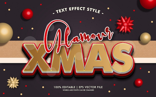 Glamour xmas text effekte stil