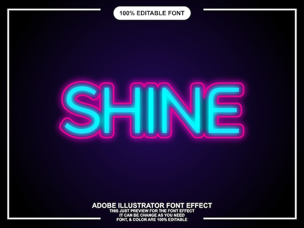 Glanz bearbeitbarer grafik-text-effekt