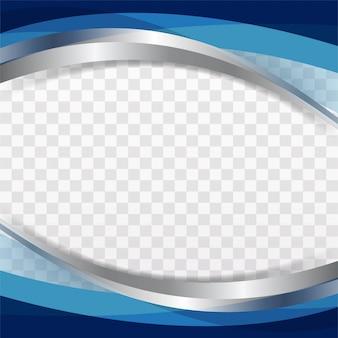 Glänzende blaue Welle Hintergrund