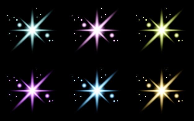 Glare star sparkling glow light effekt set