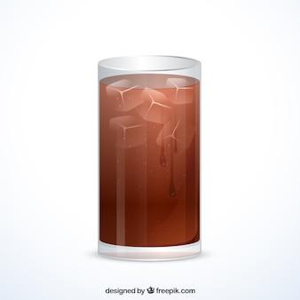 Glas alkoholfreies getränk