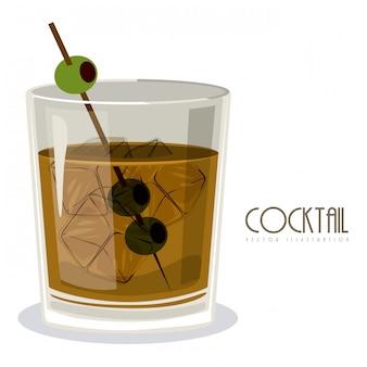 Glas cocktail mit getränk