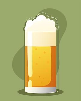 Glas kaltes bier