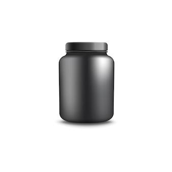 Glas oder behälter zur realistischen darstellung des proteins.