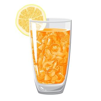 Glas orangensaft.