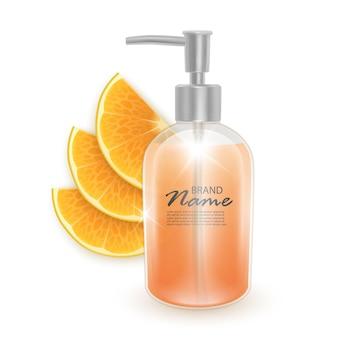 Glas shampoo oder flüssigseife kosmetikprodukt